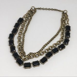 Jet Octagon Convertible Necklace